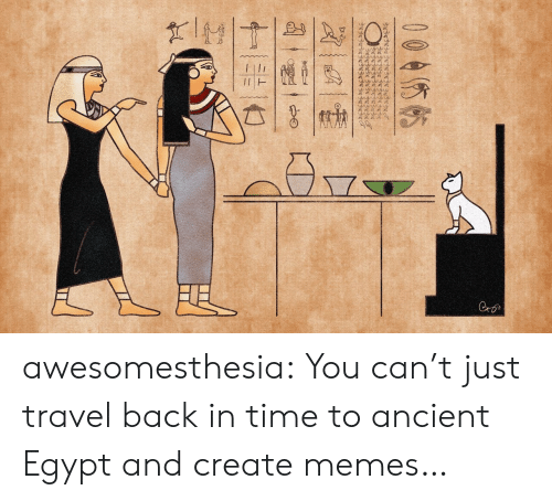 Egypt: wwww.  Cro  004你帖  十一张一亡 awesomesthesia:  You can't just travel back in time to ancient Egypt and create memes…