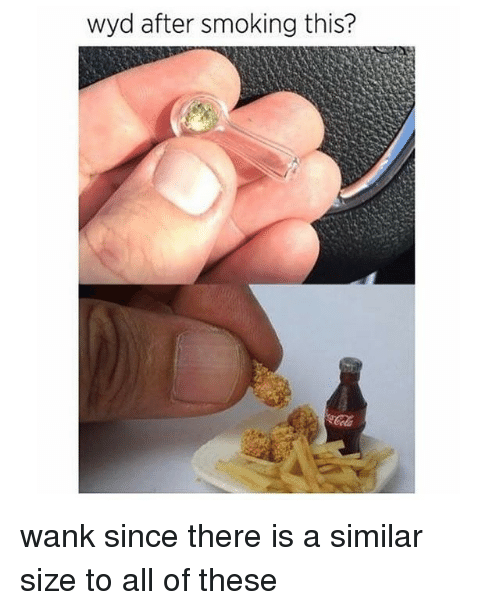 Wankes: wyd after smoking this? wank since there is a similar size to all of these