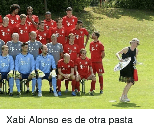 Pasta, Xabi Alonso, and Alonso: Xabi Alonso es de otra pasta