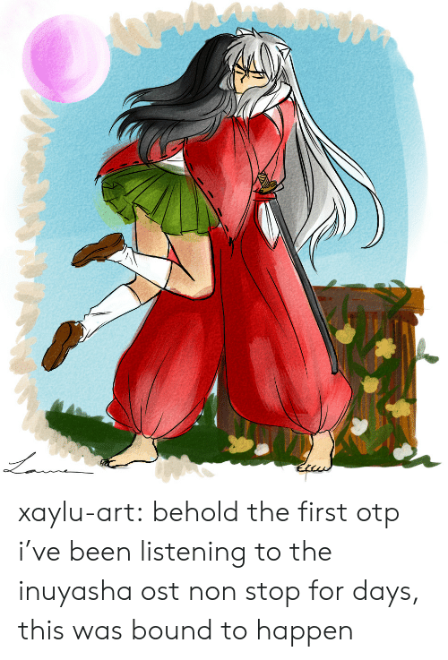 For Days: xaylu-art: behold the first otp i've been listening to the inuyasha ost non stop for days, this was bound to happen