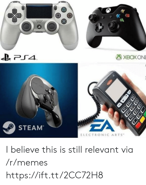 Electronic Arts: XBOXONE  EA  STEAM  ELECTRONIC ARTS I believe this is still relevant via /r/memes https://ift.tt/2CC72H8