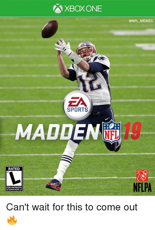 Memes, Nfl, and Patriotic: XBOXONE  @NFL MEMES  ZA  SPORTS  MADDEN  RATED  NFLPA  FOR PATRIOTS  N SUPER Can't wait for this to come out 🔥