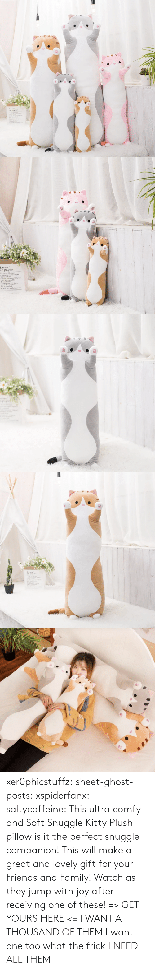 I Want: xer0phicstuffz:  sheet-ghost-posts: xspiderfanx:  saltycaffeine:  This ultra comfy and Soft Snuggle Kitty Plush pillow is it the perfect snuggle companion! This will make a great and lovely gift for your Friends and Family! Watch as they jump with joy after receiving one of these! => GET YOURS HERE <=    I WANT A THOUSAND OF THEM  I want one too what the frick    I NEED ALL THEM