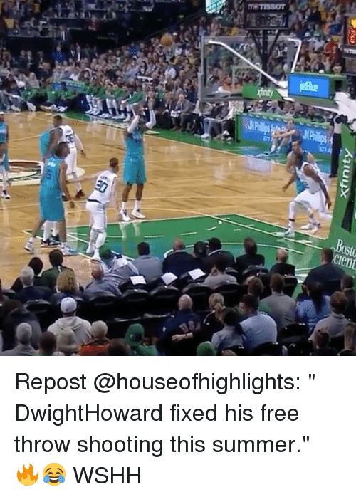 """Memes, Wshh, and Summer: xfinity Repost @houseofhighlights: """" DwightHoward fixed his free throw shooting this summer."""" 🔥😂 WSHH"""