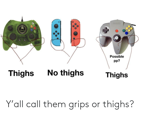 thighs: Y'all call them grips or thighs?