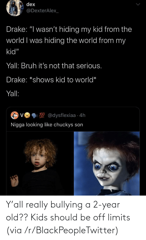 2 Year Old: Y'all really bullying a 2-year old?? Kids should be off limits (via /r/BlackPeopleTwitter)