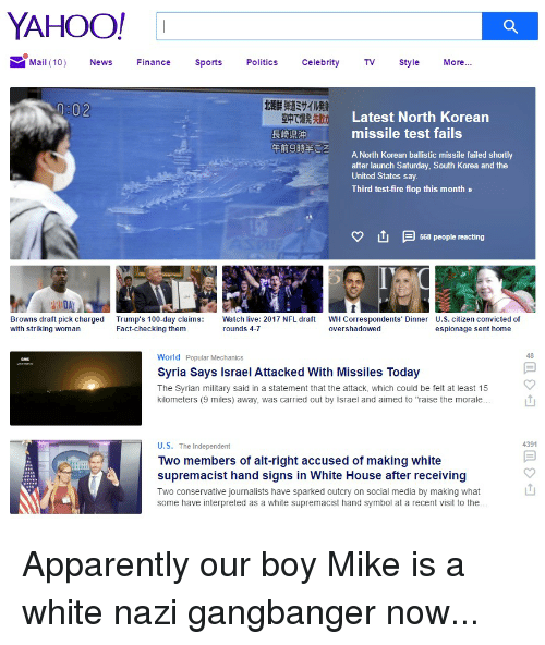 Yahoo Quote: YAHOO! I MMail 10 News Finance Sports Politics Celebrity