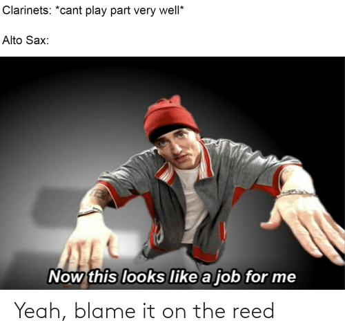 Reed: Yeah, blame it on the reed