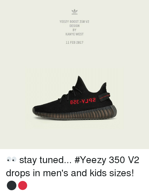Adidas Yeezy Boost 350 v2 By Kanye West Black / Red / Black BY 9612