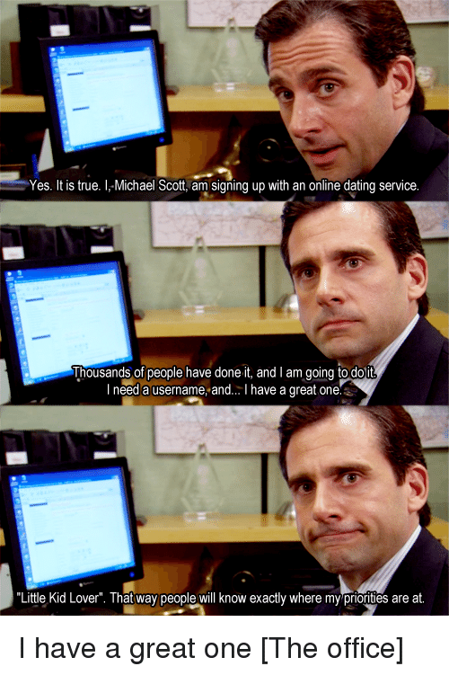 The office online dating