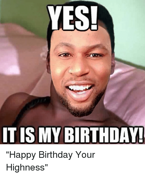 """Your Highness: YES!  IT ISMY BIRTHDAY! """"Happy Birthday Your Highness"""""""