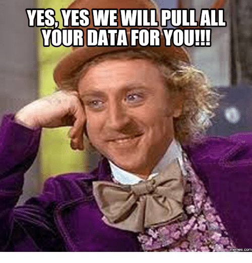 Rise And Grind Meme: YES, YES WE WILLPULLALL  YOURDATA FOR YOU!!!  COM
