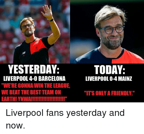 Yesterday Liverpool 4 0 Barcelona Weregonna Win The League