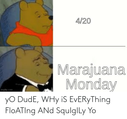 floating: yO DudE, WHy iS EvERyThing FloATIng ANd SquIgILy Yo