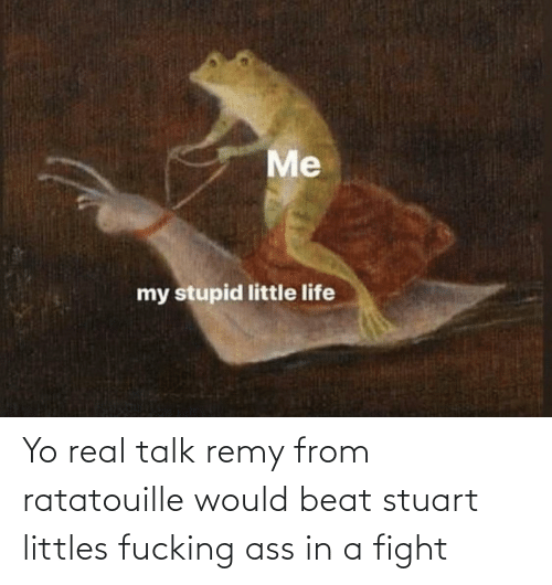 Littles: Yo real talk remy from ratatouille would beat stuart littles fucking ass in a fight