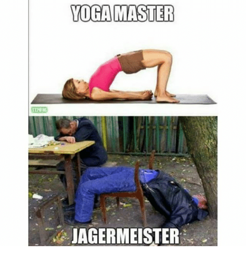 Yoga, Jagermeister, and Master: YOGA MASTER  12016  JAGERMEISTER