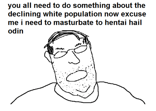 Dank Memes: you all need to do something about the  declining white population now excuse  me i need to masturbate to hentai hail  odin