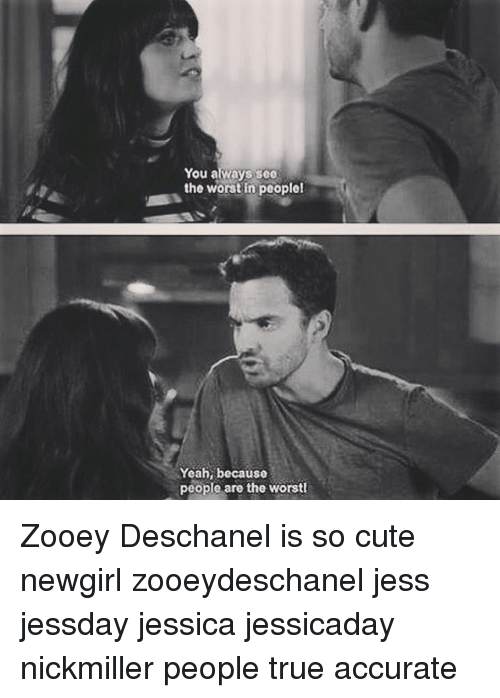Yeah Worst As In That Bad: Funny Zooey Deschanel Memes Of 2016 On SIZZLE