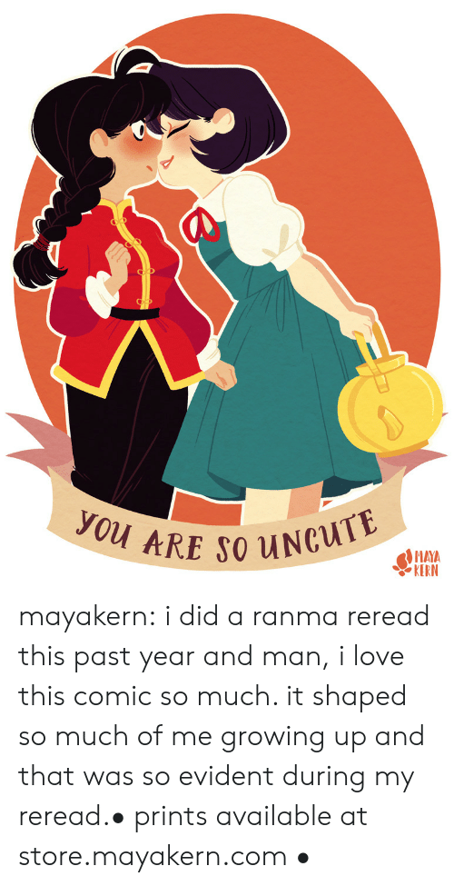 evident: you ARE SO UNCUTE  MAYA  KERN mayakern:  i did a ranma reread this past year and man, i love this comic so much. it shaped so much of me growing up and that was so evident during my reread.• prints available at store.mayakern.com •