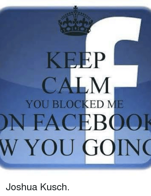 how to know who blocked you on facebook
