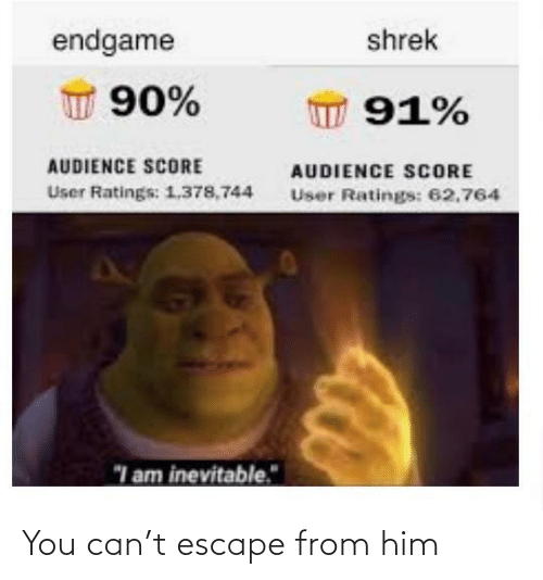 escape: You can't escape from him