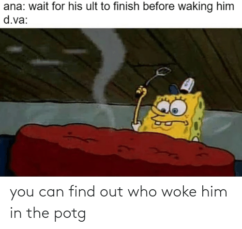 woke: you can find out who woke him in the potg