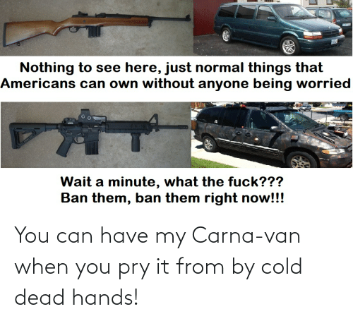 cold-dead-hands: You can have my Carna-van when you pry it from by cold dead hands!
