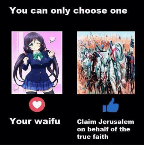 Choose One, Dank, and True: You can only choose one Your waifu Claim ...