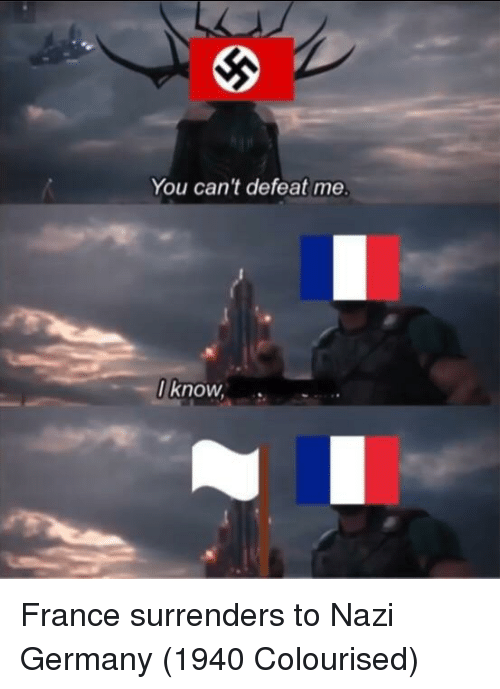 surrenders: You can't defeat me  I know, France surrenders to Nazi Germany (1940 Colourised)