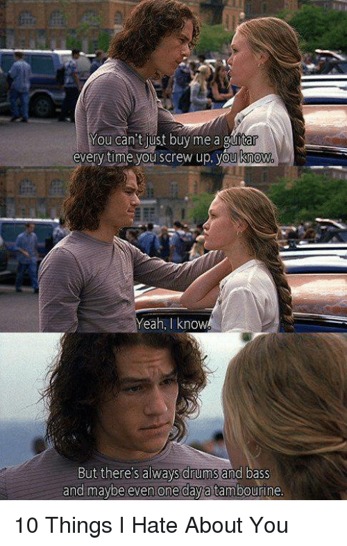 25+ Best Memes About 10 Things I Hate About You | 10 ... Joseph Gordon Levitt Drums
