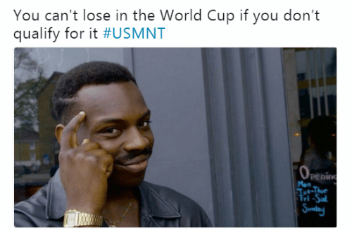 usmnt: You can't lose in the World Cup if you don't  qualify for it #USMNT  penin  Mon