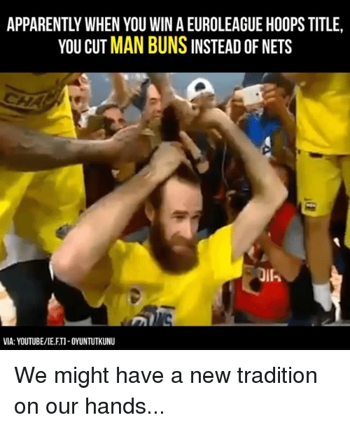 Memes, youtube.com, and 🤖: YOU CUT MAN BUNS INSTEAD OF NETS  VIA: YOUTUBE/DE FTI-OYUNTUTKUNU We might have a new tradition on our hands...
