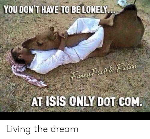 Finny: YOU DON'THAVE TO BE LONELY..  Finny Faels & Fretion  AT ISIS ONLY DOT COM. Living the dream