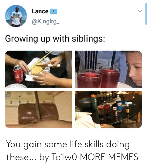 Skills: You gain some life skills doing these… by Ta1w0 MORE MEMES
