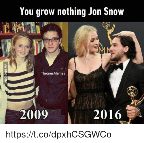 Memes, Jon Snow, and Snow: You grow nothing Jon Snow  Thrones Memes  2009  2016 https://t.co/dpxhCSGWCo