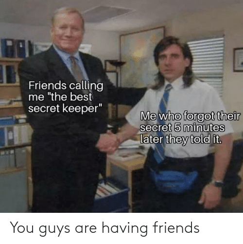 Guys Are: You guys are having friends