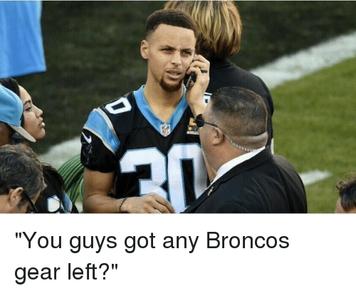 "Blackpeopletwitter and Broncos: ""You guys got any Broncos gear left?"""