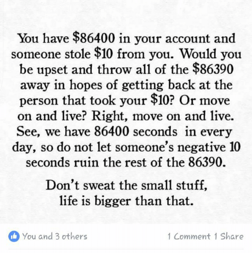 You Have $86400 in Your Account and Someone ...