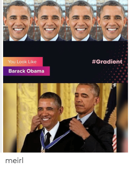 Obama, Barack Obama, and MeIRL: You Look Like  #Gradient  Barack Obama meirl