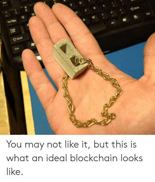 Blockchain: You may not like it, but this is what an ideal blockchain looks like.