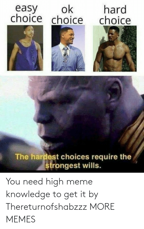high meme: You need high meme knowledge to get it by Thereturnofshabzzz MORE MEMES