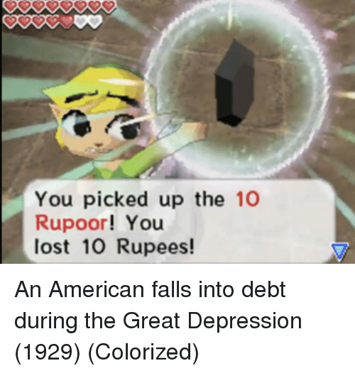 Great Depression: You picked up the 10  Rupoor! You  lost 10 Rupees! An American falls into debt during the Great Depression (1929) (Colorized)