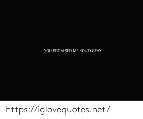 you promised: YOU PROMISED ME YOU'D STAY || https://iglovequotes.net/