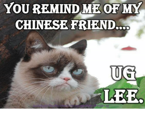 ugs: YOU REMIND ME OF MY  CHINESE FRIEND..OO  UG  LEE.  nsBnity