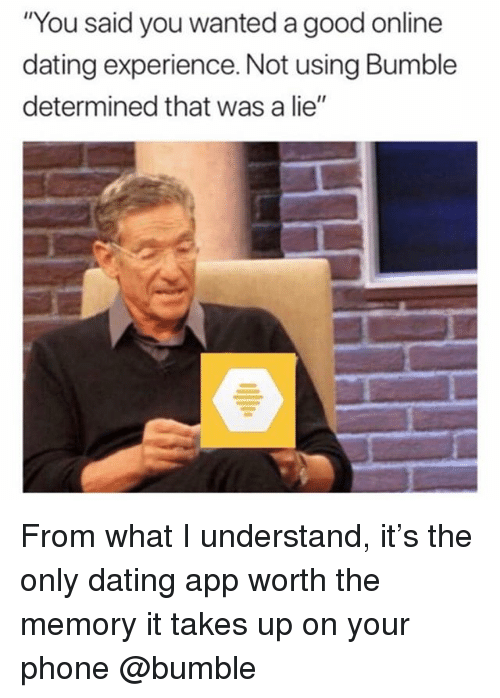 Good experiences with online dating