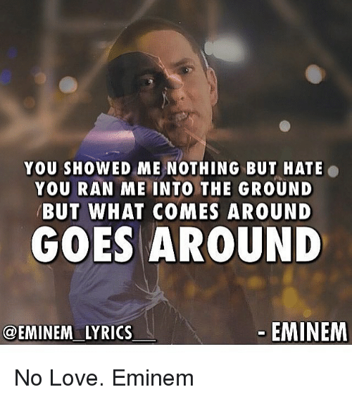 Eminem Lyrics No Love