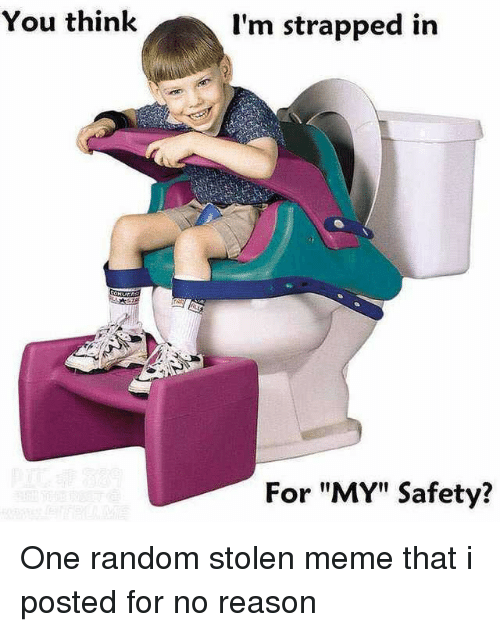 """Stolen Meme: You think  I'm strapped in  For """"MY"""" Safety? One random stolen meme that i posted for no reason"""