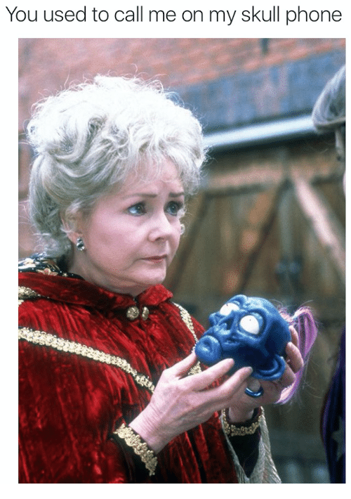 You Used To Call Me: You used to call me on my skull phone