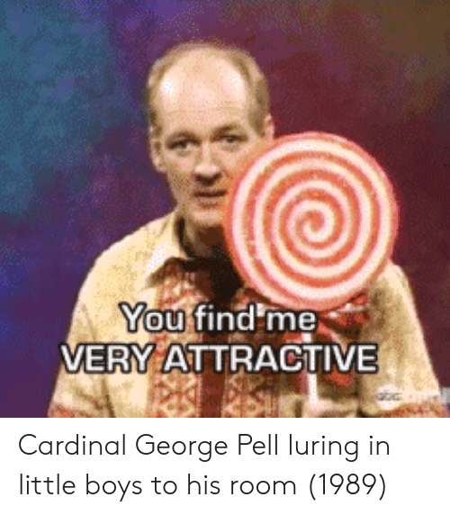cardinal: You  VERY ATTRACTIVE Cardinal George Pell luring in little boys to his room (1989)