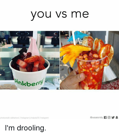drooling: you VS me  nkberry  photocredit sidhartovi /InstagramIchabela79/Instagram I'm drooling.